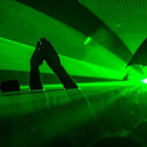 Šviesos Nr. 1 (Žalias lazeris, stroboskopas ir dūmų mašina)