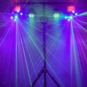 Šviesos Nr. 2 (didelis kiekis šviesos efektų, dūmų mašina)