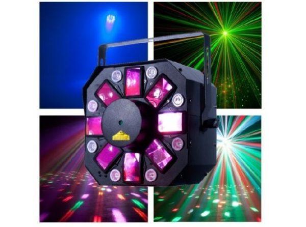 ADJ Stinger II efektas, įvairių spalvų judantys taškai, lazeris, UV. Turime 4vnt.