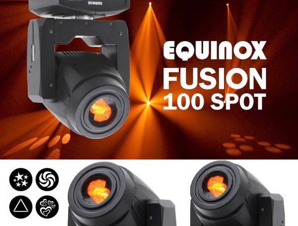 Equinox Fusion 100 Spot 80W. LED Judančios šviesos galvos. Turime 4vnt.