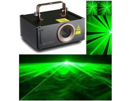 Cameo WOOKIE 150G žalios spalvos lazeris, auto programos, DMX