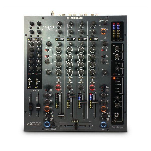 Allen&Heath Xone: 92 keturių kanalų DJ mikseris + 2AUX, 2MIC/LINE