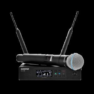 Belaidis vokalinis mikrofonas – Shure QLXD/BETA58A